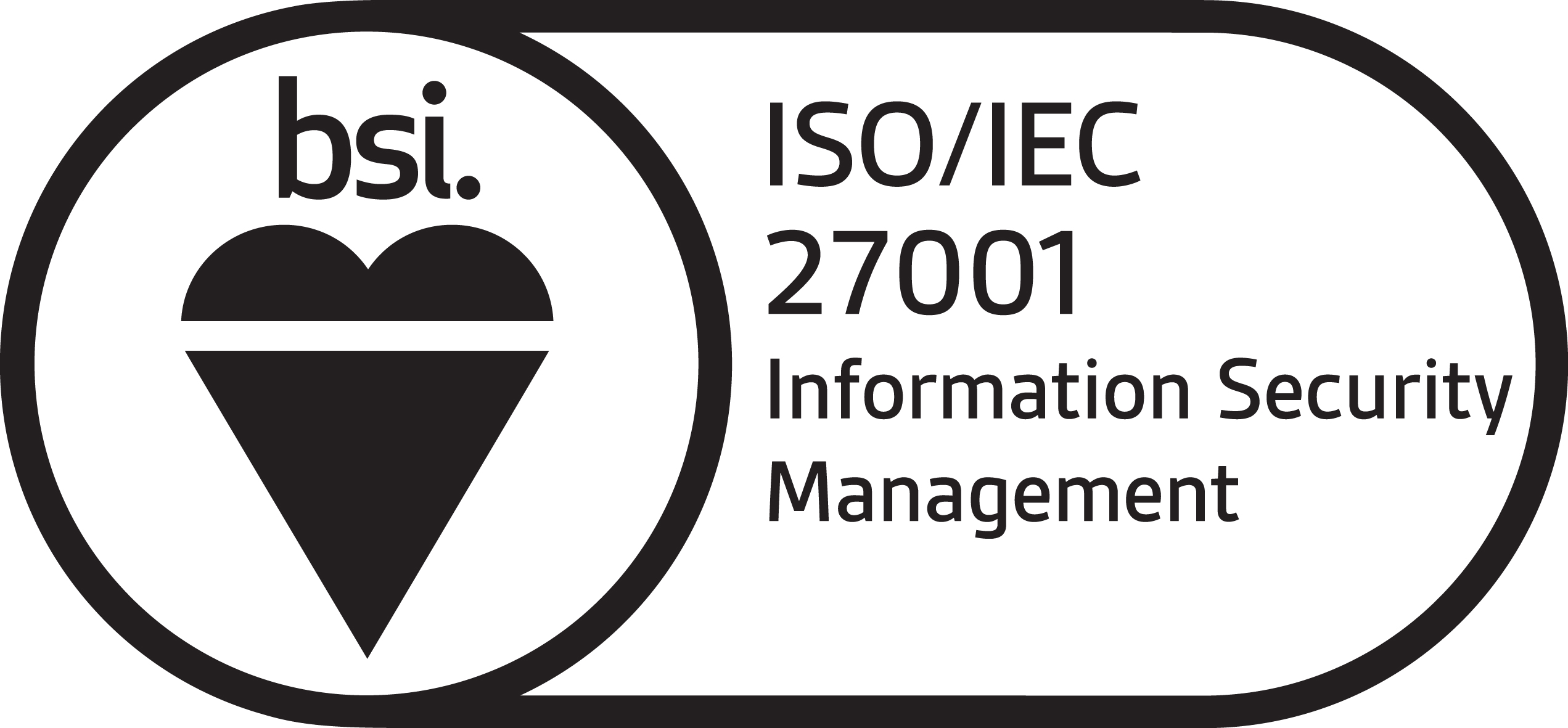 BSI ISO 27001 certification logo
